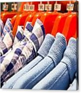 Men's Shirts Acrylic Print by Tom Gowanlock