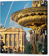 Paris Fountain Acrylic Print by Brian Jannsen