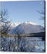 Alpine Lake Acrylic Print by Mats Silvan