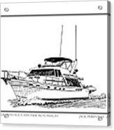 45 Foot Bayliner Motoryacht Acrylic Print by Jack Pumphrey