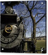#475 Steam Engine On The Strasburg Rr 04 Acrylic Print by Mark Serfass
