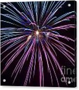 4th Of July 2014 Fireworks Bridgeport Hill Clarksburg Wv 1 Acrylic Print by Howard Tenke