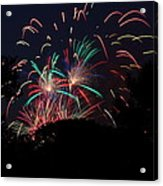 4th Of July Fireworks - 011310 Acrylic Print by DC Photographer