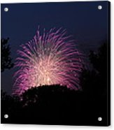 4th Of July Fireworks - 01133 Acrylic Print by DC Photographer