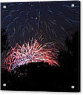 4th Of July Fireworks - 01135 Acrylic Print by DC Photographer
