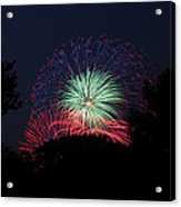 4th Of July Fireworks - 01137 Acrylic Print by DC Photographer