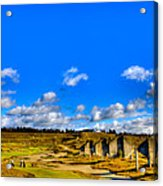 #18 At Chambers Bay Golf Course  Acrylic Print by David Patterson