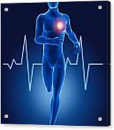 3d Running Medical Man Acrylic Print by Kirsty Pargeter