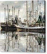 Bayou Labatre' Al Shrimp Boat Reflections Acrylic Print by Jay Blackburn