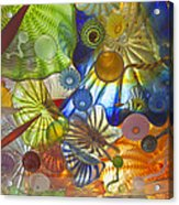 Glass Art. Acrylic Print by Gino Rigucci