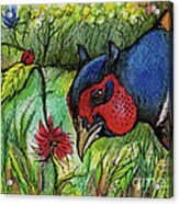 In My Magic Garden Acrylic Print by Angel  Tarantella