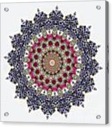 Kaleidoscope Colorful Jeweled Rhinestones Acrylic Print by Amy Cicconi