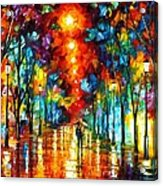 Night Park Acrylic Print by Leonid Afremov