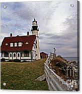 Portland Head Lighthouse Acrylic Print by Skip Willits
