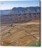 Sinkholes In Northern Dead Sea Area Acrylic Print by Ofir Ben Tov