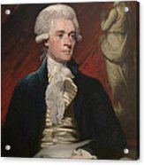 Thomas Jefferson Acrylic Print by War Is Hell Store
