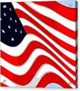 50 Star American Flag Closeup Abstract 8 Acrylic Print by L Brown