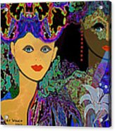 509 - The Colours Of A Summer Night B . Acrylic Print by Irmgard Schoendorf Welch