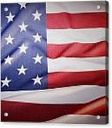 American Flag Acrylic Print by Les Cunliffe
