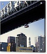 59th Street Tram - Nyc Acrylic Print by Linda  Parker