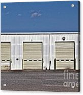 6 7 8 9 Warehouse  Acrylic Print by JW Hanley