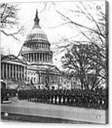 63rd Infantry Ready In Dc Acrylic Print by Underwood Archives