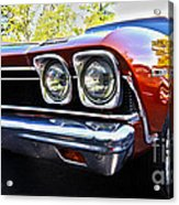 68 Chevelle  Color Acrylic Print by Cheryl Young