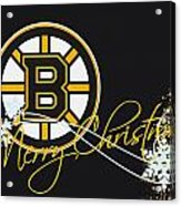 Boston Bruins Acrylic Print by Joe Hamilton