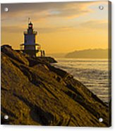 Sunrise At Spring Point Lighthouse Acrylic Print by Diane Diederich
