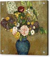 Vase Of Flowers Acrylic Print by Odilon Redon