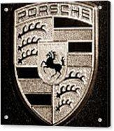 Porsche Emblem Acrylic Print by Jill Reger
