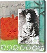 Namaste Acrylic Print by Linda Woods