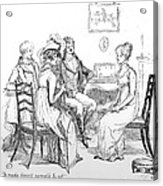 Scene From Pride And Prejudice By Jane Austen Acrylic Print by Hugh Thomson