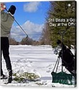 A Bad Day On The Golf Course Acrylic Print by Frozen in Time Fine Art Photography
