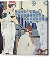 A Bath Seat Acrylic Print by Joseph Kuhn-Regnier