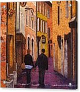 A City Walk In Spring Acrylic Print by Lenore Crawford