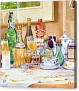 A Collection Of Drinks Acrylic Print by Mary Helmreich