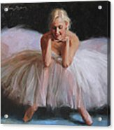 A Dancer's Ode To Marilyn Acrylic Print by Anna Rose Bain