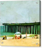 A Day At The Beach Acrylic Print by Darren Fisher