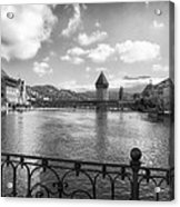 A Day In Lucerne Acrylic Print by Mountain Dreams