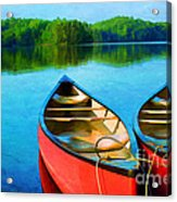 A Day On The Lake Acrylic Print by Darren Fisher