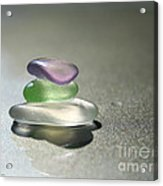 A Delicate Balance Acrylic Print by Barbara McMahon