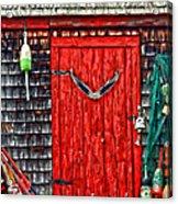 A Door In Maine Acrylic Print by Darren Fisher