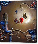 A Fairy's Heart Has Many Secrets Acrylic Print by Shawna Erback