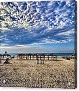 a good morning from Jerusalem beach  Acrylic Print by Ron Shoshani