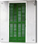 A Green Door In New Orleans Acrylic Print by Christine Till