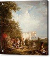 A Gypsy Scene Acrylic Print by Edward Robert Smythe
