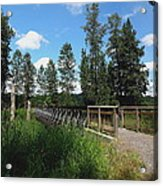 A Man's View Of Red Tail Lake Acrylic Print by Lizbeth Bostrom