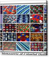 A Menagerie Of Colorful Quilts  Acrylic Print by Barbara Griffin