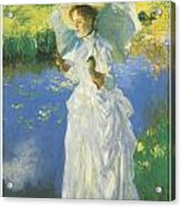 A Morning Walk Acrylic Print by John Singer Sargent